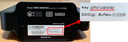 SSIDとパスワードの記載例